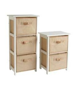 Living Jute Effect 2 and 3 Drawer Set - White - Now £24.99