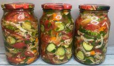 Zásobte sa zeleninovým šalátom, ktorý sa stane záchranou najmä v chladnom období – radynadzlato.sk Pickles, Cucumber, Zucchini, Mason Jars, Salads, Stuffed Peppers, Vegetables, Cooking, Backyard
