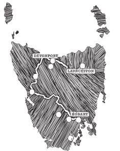 clickable map of Tasmania
