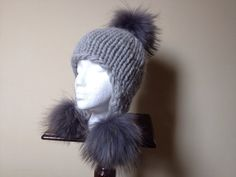 READY TO SHIP  Gray Grey Chunky Alpaca Hat  by HandmadeKnitsHats, $130.00