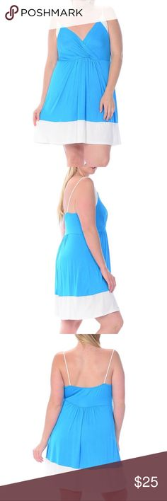 Bellino Plus - Color block Dress Colorblock Sleeveless Dress, very comfortable and lightweight. You will not a ant to get off this dress. Beautiful rich color is very stunning. Material 97% Rayon and 3% Spandex Bellino Clothing Dresses