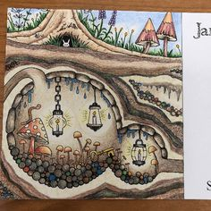 Take a peek at this great artwork on Johanna Basford's Colouring Gallery! Enchanted Forest Book, Enchanted Forest Coloring Book, Amazon Coloring Books, Coloring Book Pages, Johanna Basford Coloring Book, Wonder Book, Tangle Art, Painted Books, Adult Coloring