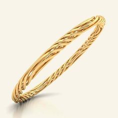 Buy gold bangles for women with different sizes, designs and starting price RS. BIS hallmark gold and IGI certified diamond. Gold Bangles For Women, Gold Bangles Design, Gold Jewellery Design, Gold Jewelry, Jewelery, Designer Jewellery, Jewellery Box, Gold Pendent, Imitation Jewelry