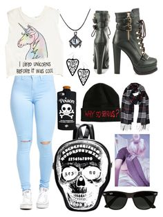 """Untitled #72"" by sophie-goodwin on Polyvore featuring Luichiny, Forever 21, Valfré, Humble Chic and Ray-Ban"