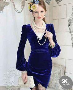 awesome Kadife 2014 Elbise Modelleri