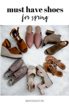 must have shoes for spring | womens shoes | cute shoes | womens spring shoes 2018 | spring fashion | spring style | spring shoes | style crush | blush crush | espadrilles | #springfashioninspo #springstyle #mysocaledlife