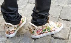 Custom Painted Buscemi Sneakers — pristine-finesse-new-york-street-style-by-lindsey-calder-trimble