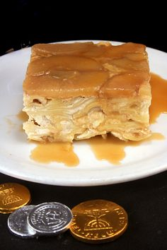 Caramel Apple Upside Down Noodle Kugel - Could be great for Rosh Hashanah or Chanukah.