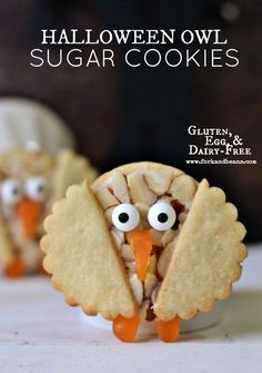 The Cutest Gluten Free Vegan Halloween Owl Cookies! Super easy and fun to make with the kiddos!