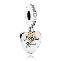 8b7c5ee8a Authentic 925 Sterling Silver Bead Charm Gold Love Heart & Love You Forever Pendant  Beads Fit Pandora Bracelet Diy Jewelry