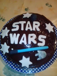 Tarta de chocolate Star Wars