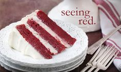 Love this red velvet cake... no food coloring!