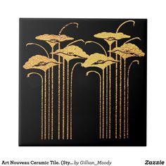 Art Nouveau Ceramic Tile. (Style 3) Ceramic Tile | Zazzle.com