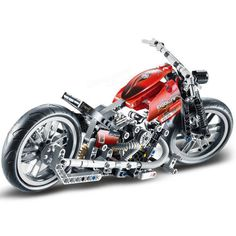 *Motorcycle* DIY enlighten block bricks,Compatible With other Assembles Particles Chopper Bike, Bike Photo, Building Blocks Toys, Racing Motorcycles, Lego Moc, Model Building, Bricks, Vehicles