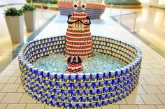 CANstruction sculptures go on display today at the Gardens Mall.