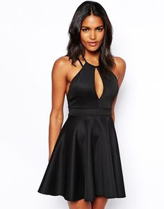 Oh My Love Skater Dress With Keyhole and Low Back