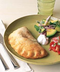 Empanadas|It's a cinch to make this recipe: Roll out prepackaged pizza dough, fill with beans, salsa, and cheese, then press together to make a perfect pocket. See more kid-friendly Mexican recipes: