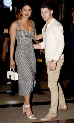 Bollywood actor Priyanka Chopra and American singer and actor Nick. Date Outfits, Night Outfits, Summer Outfits, Priyanka Chopra, Cute Couple Quotes, Couple Goals, Vestidos Retro, Under Armour, Dating Tips For Women