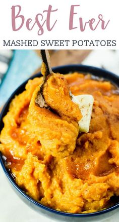 Mashed Sweet Potatoes Recipe {Side Dish Sweetened with Maple Syrup} There's nothing like a side dish of mashed sweet potatoes sweetened with maple syrup. These creamy potatoes are perfect for holiday meals and weeknight suppers. Sweet Potato Recipes Healthy, Mashed Potato Recipes, Yam Recipes, Salad Recipes, Thanksgiving Recipes, Holiday Recipes, Holiday Meals, Holiday Side Dishes, Suppers
