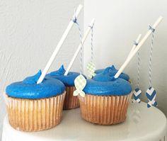 Pesca polos Cupcake Toppers por GoAgainstTheGrain en Etsy