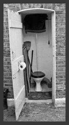 Toilet down the bottom of the garden!