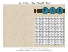 Delightful Order: Father's Day Gift Idea with Free Printables