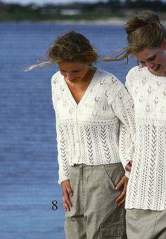 Ravelry: 9902-8 Short White Cardigan pattern by Ane Sæthre