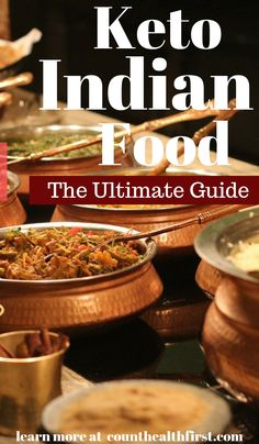 Eating out on Keto: Indian Restaurants - Count Health First The perfect guide on eating out on keto at indian restaurants. Perfect for choosing the right takeout. Never ruin your diet accidently with this keto indian food ultimate guide. Low Carb Indian Food, Indian Diet, Indian Food Recipes, Indian Meal, Keto Diet For Vegetarians, Beginner Vegetarian, High Fat Foods, Healthy Diet Recipes, Keto Recipes