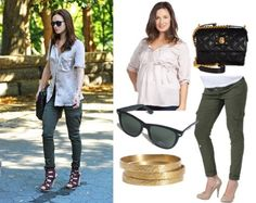 young celebr, celebr matern, celebrity style, celebr style, celebr casual, outfit green, fashion fosho, leighton meester casual, school outfit