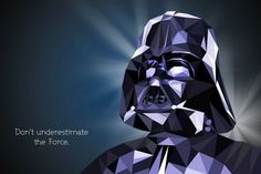 star wars portrait - This series of polygonal Star Wars portraits is the work of visual artist Vladen Filipovic. The illustrations are geometrically shaped and feature ...