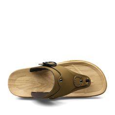 New Fashion Summer Beach Flip Flops Casual Mens Leather Sandals Sapato Masculino Flat Sandal Khaki Yellowish Brown Size 38 to 44