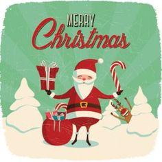 2014 Christmas Santa and Rudolph Vector Graphic Merry Christmas, Christmas And New Year, Vintage Christmas, Christmas Time, Christmas Gifts, Holiday, Christmas Things, Xmas, Santas Vintage