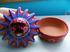 Mexican Decorative Colorful Sun Ceramic Jewelry by TheForestNymph, $18.00