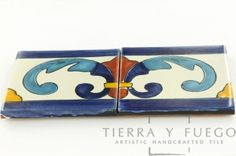 Turquoise Murcielago Talavera Mexican Tile