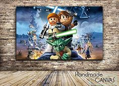 Lego Star Wars Gaming Box Framed Canvas Art Print -- Read more  at the image link.
