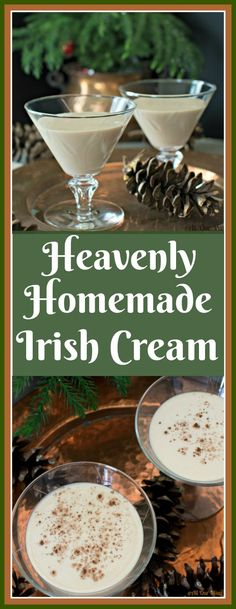 Heavenly Homemade Irish Cream Rich & Smooth Heavenly Homemade Irish Cream is a decadent dessert in a glass. Homemade Baileys, Homemade Irish Cream, Homemade Liquor, Homemade Liqueur Recipes, Homemade Alcohol, Cocktails, Cocktail Recipes, Alcoholic Drinks, Martini Recipes
