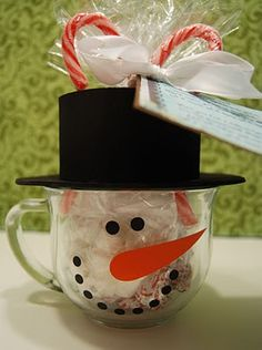 Snowman Soup Gift Idea with Printable