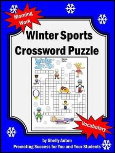 Winter Sports Crossword Puzzle: Here is a crossword puzzle to practice 20 winter sports vocabulary w Sports Crossword, Printable Crossword Puzzles, Winter Activities, Classroom Activities, Winter Games, Vocabulary Worksheets, Vocabulary Words, Teacher Blogs, Winter Sports