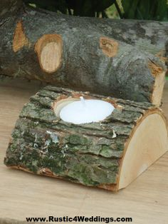 www.Rustic4Weddings.com - #Rustic #Wedding #Tree #Branch #Candle #Holders for sale.