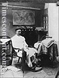 A 1900 file photo of Indian nationalist, social reformer and freedom fighter Lokmanya Bal Gangadhar Tilak in study at Bombay.The first popular leader of Indian Independence Movement, he was part of the trio known as 'Lal, Bal, Pal'.