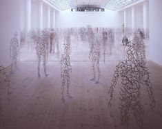 My favourite installation, by my favourite sculptor. Antony Gormley, Domain Field, at the Tate.