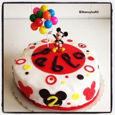 Tarta Fondant de Mickey Mouse #receta #tartafondant                                                                                                                                                     Más