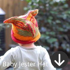 free Baby Jester Hat knitting pattern