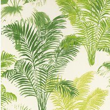Jungle Palm by Galerie - Green : Wallpaper Direct Green Wallpaper, Home Wallpaper, Tropical Wallpaper, Flower Vases, Flower Art, Pouf Cuir, Dining Room Bench Seating, Sun Lounger Cushions, Decorative Storage Boxes
