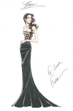 Gucci Custom Premiere for Salma Hayek at Golden Globe 2012