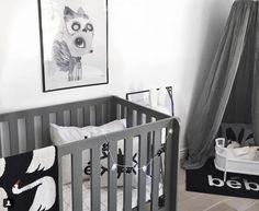Oeuf Grey Elephant Crib #oeuf #oeufnyc #oeuffurniture #elephantcrib #ecofriendly #moderndesign #nurserydecor #nurseryinspiration