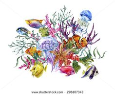 coral reef tattoos - Google Search