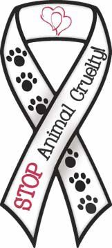 STOP ANIMAL CRUELTY RIBBON