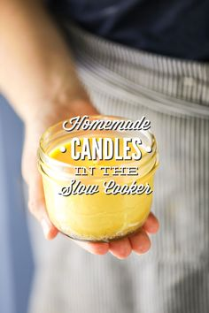 How to make easy, fuss-free, homemade candles using a slow-cooker/crock-pot. The easiest way to make homemade candles without the mess or hands-on work.