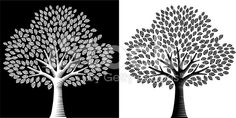 Black and White tree royalty-free stock vector art